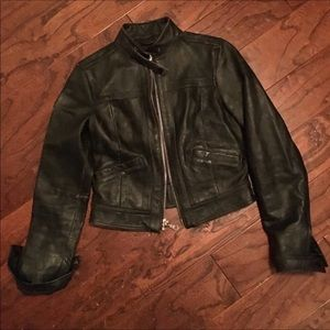 Limited Edition Black Leather Moto Jacket